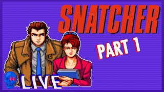 Snatcher (Sega CD) PART 1   SSFF Live