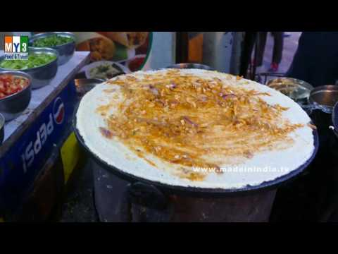 BUTTER MASALA DOSA | FAMOUS MYSORE BREAKFAST RECIPE | INDIAN STREET FOODS  2016 | 4K VIDEOS
