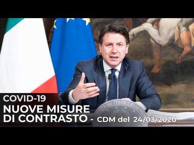 Consiglio dei Ministri n. 38, conferenza stampa del Presidente Conte