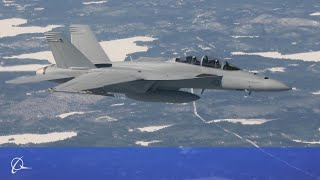 Boeing Super Hornet and Growler Compete in the Finnish HX Challenge
