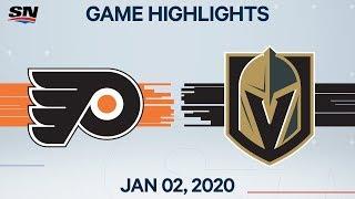 NHL Highlights   Flyers vs Golden Knights - Jan. 02, 2020