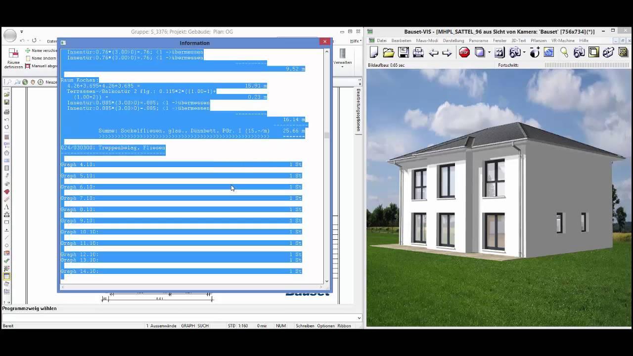 Bauset Cad bauset architektur cad 15 mengenermittlung und preiskalkulation