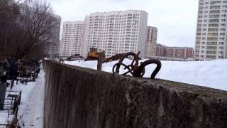 2016-17г. Люберцы. Красная горка. Старое кладбище. Свалка снега.
