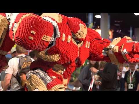 Comic-Con Lego sculpture pits Hulkbuster Iron Man against Hulk