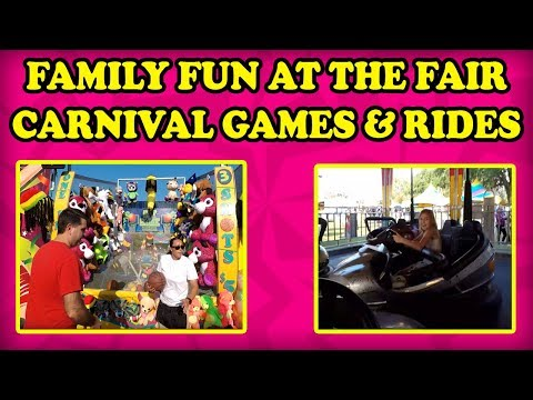 CARNIVAL GAMES & CARNIVAL RIDES!  Bumper Cars And Midway Games Like Milk Bottle Toss And Balloon Pop