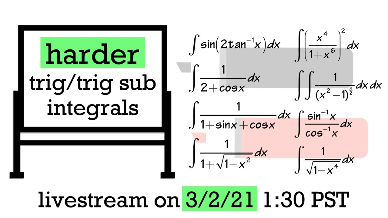 Trig/Trig Sub Integrals But Harder (Calculus 2 challenge