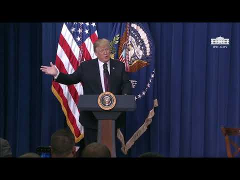 President Trump Delivers Remarks on Supporting Veterans and Military Families