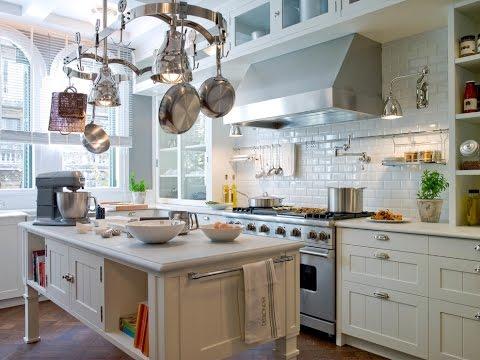 Плитка под кирпич для кухни в стиле прованс