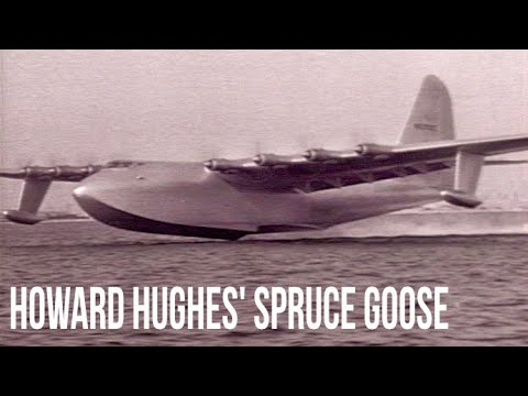 Howard Hughes and the Spruce Goose' First Flight - Stock Footage - YouTube