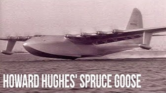 Howard Hughes and the Spruce Goose' First Flight - Stock Footage