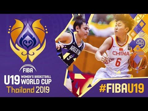 China v Argentina -  Game - FIBA U19 Women&39;s Basketball World Cup 2019