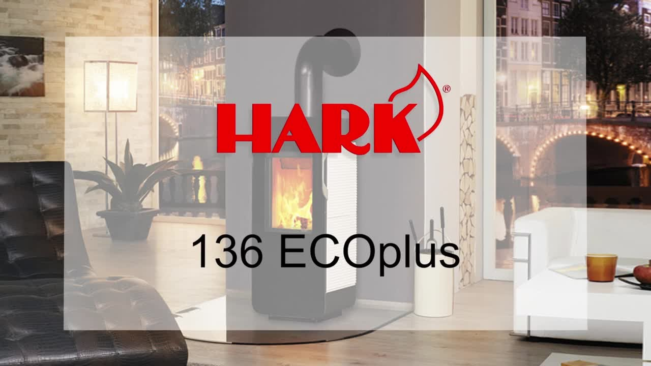 kaminofen hark 136 ecoplus stahlofen youtube. Black Bedroom Furniture Sets. Home Design Ideas