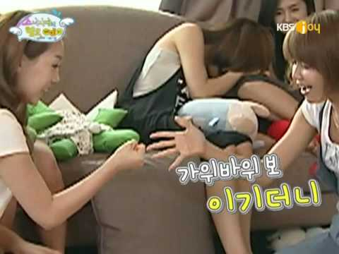 090908 SNSD Taeyeon Vs Sooyoung - Hammer Fight Hello Baby SooTae.flv
