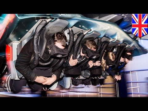 Roller coaster stuck: Galactica ride at Alton Towers leaves passengers hanging in mid-air - TomoNews