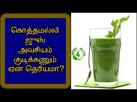 Coriander Juice Benefits in tamil