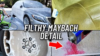 Car Detailing A Filthy Mercedes Maybach... Interior & Exterior Restoration How To