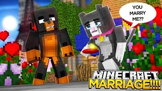 Minecraft MARRIAGE?? - DOES CASSIE PROPOSE TO DONUT?? - donut the dog minecraft roleplay