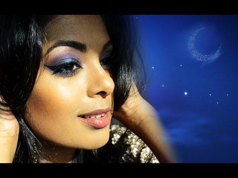 Eid Makeup Blue Smokey Eyes Arabic Makeup For Tan Dark