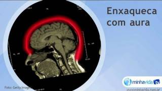 Enxaquecas podem ser sinalizadas por um sintoma chamado aura, que p...