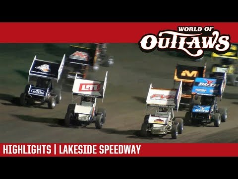 World of Outlaws Craftsman Sprint Cars Lakeside Speedway October 20, 2017 | HIGHLIGHTS
