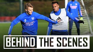 Odegaard's backheel assist | Behind the scenes at Arsenal training centre