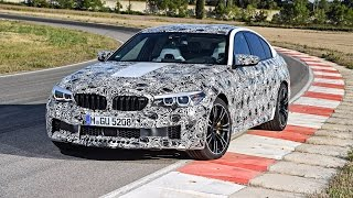 Race driver Timo Glock drives the new BMW M5 for the first time.