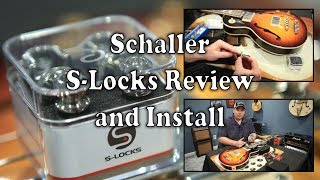 How To Install Schaller S-Locks, Review, and Unboxing by Scott Sill on A Gibson ES-Les Paul Bass