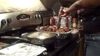 Barbeque Baby Backs Baked Beans And String Beans With Potatoes N' Bacon Finale 10 31 10