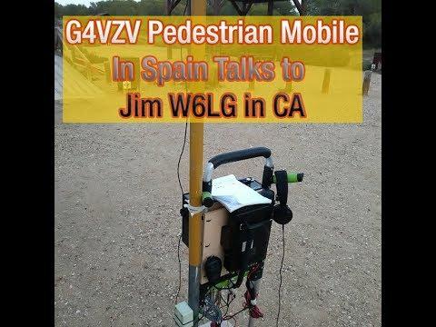 Ham Radio with Jim Heath W6LG--G4VZV in Spain Pedestrian Mobile Talks with Jim via Short Wave
