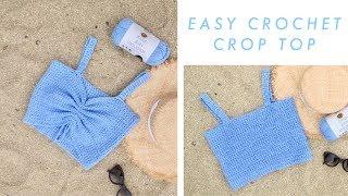 Easy Crochet Crop Top DIY Tutorial