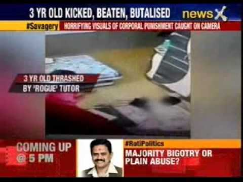 3 year old thrashed by ' rogue' tutor in Kolkata