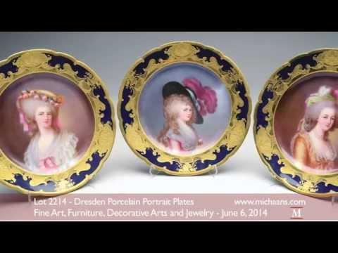 Dresden Porcelain Portrait Plates