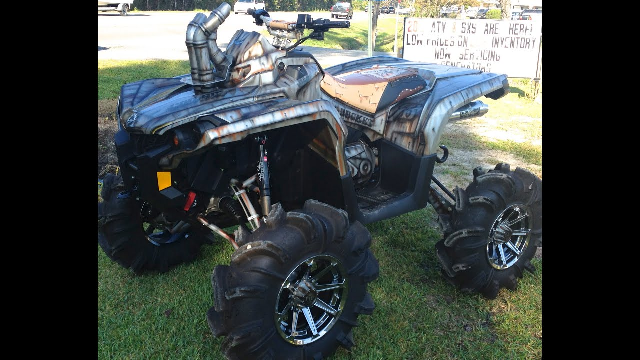 Can Am Outlander 1000 ish Huge Lift w/ Nitrous!!!