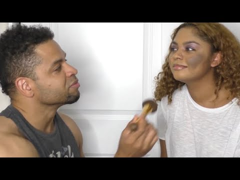 My Dad Does My Makeup Challenge!