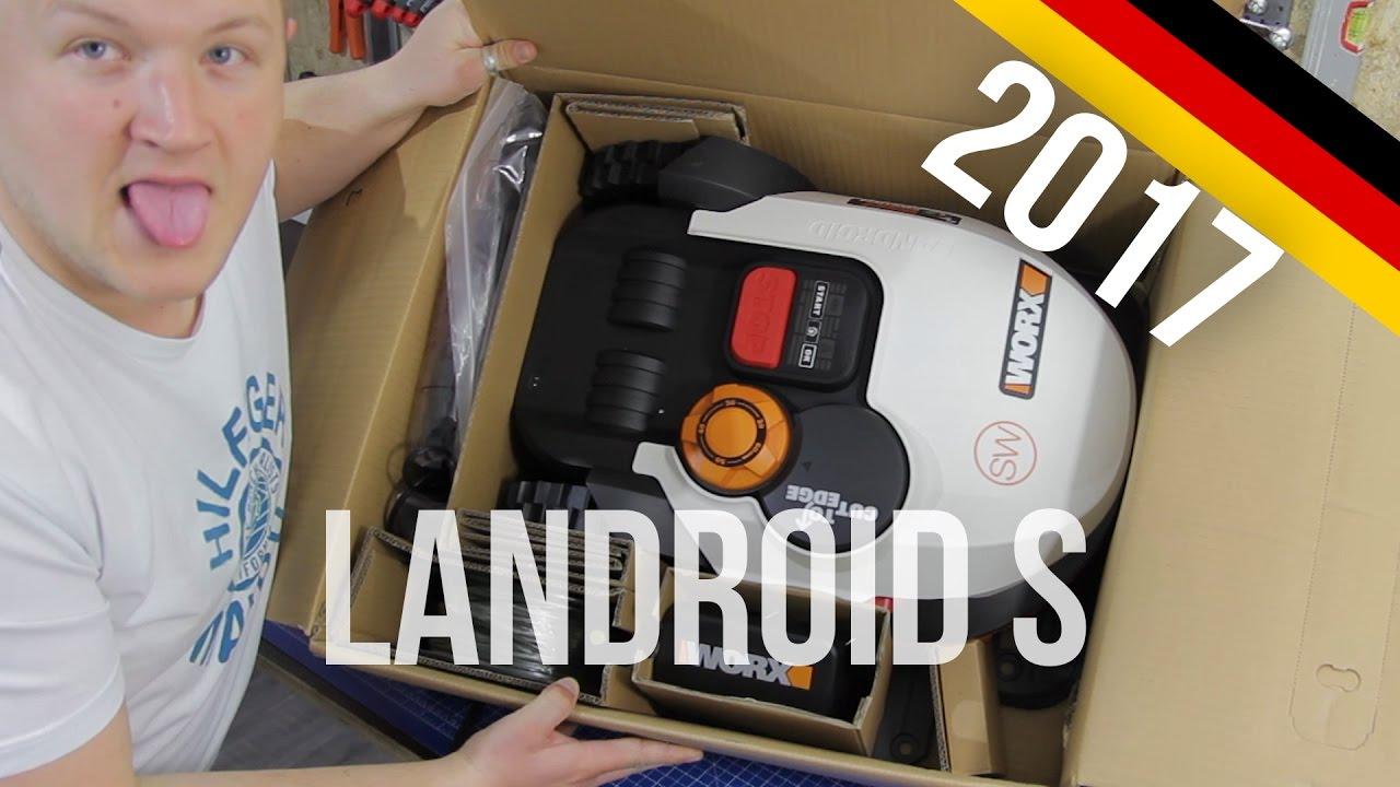 worx landroid s m hroboter unboxing modell 2017 wr106si so500i german youtube. Black Bedroom Furniture Sets. Home Design Ideas