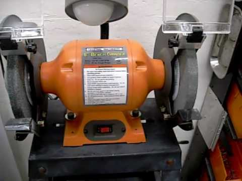 Harbor Freight 8 Quot Bench Grinder Review Youtube