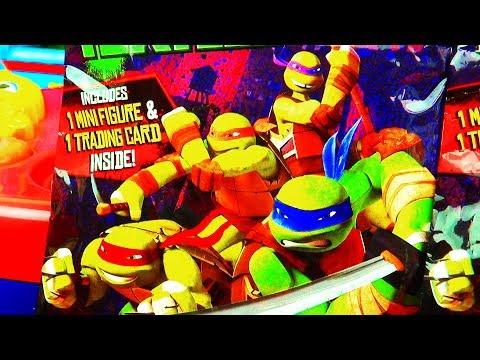 Teenage Mutant Ninja Turtles Surprise Toys Action Figures TMNT Toy Bling Bag Nickelodeon Viacom - 동영상
