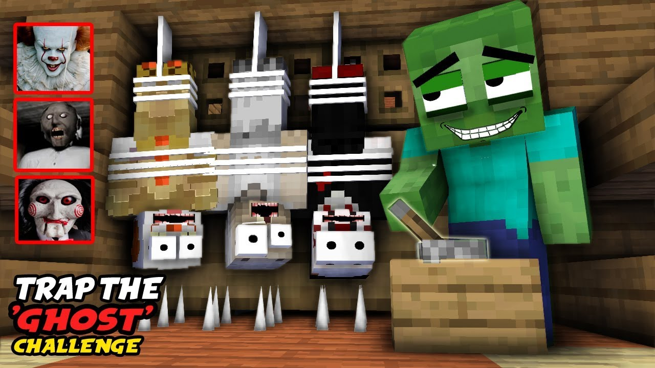 MONSTER SCHOOL : TRAP THE GHOST CHALLENGE (WITH NEW CLASSMATES) –  FUNNY ANIMATION