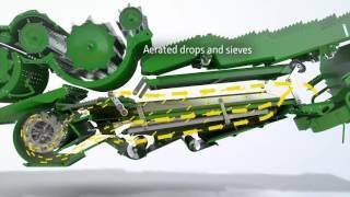 John Deere T670 Combine - Dyna-Flo Plus Cleaning Shoe