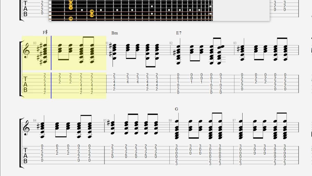 Cat Stevens Morning Has Broken Guitar Tab Youtube