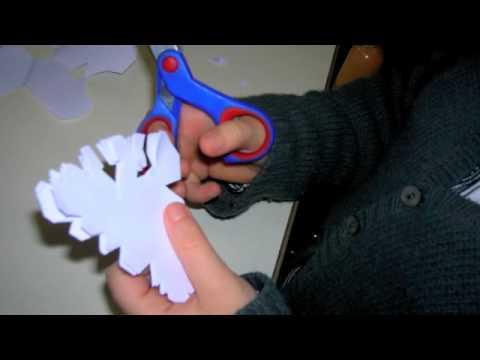 Les flocons de neige youtube - Comment faire une guirlande de noel en papier ...