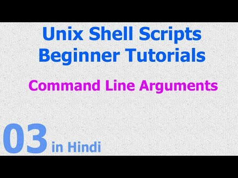 03 - Unix Shell Scripts - Command Line Arguments