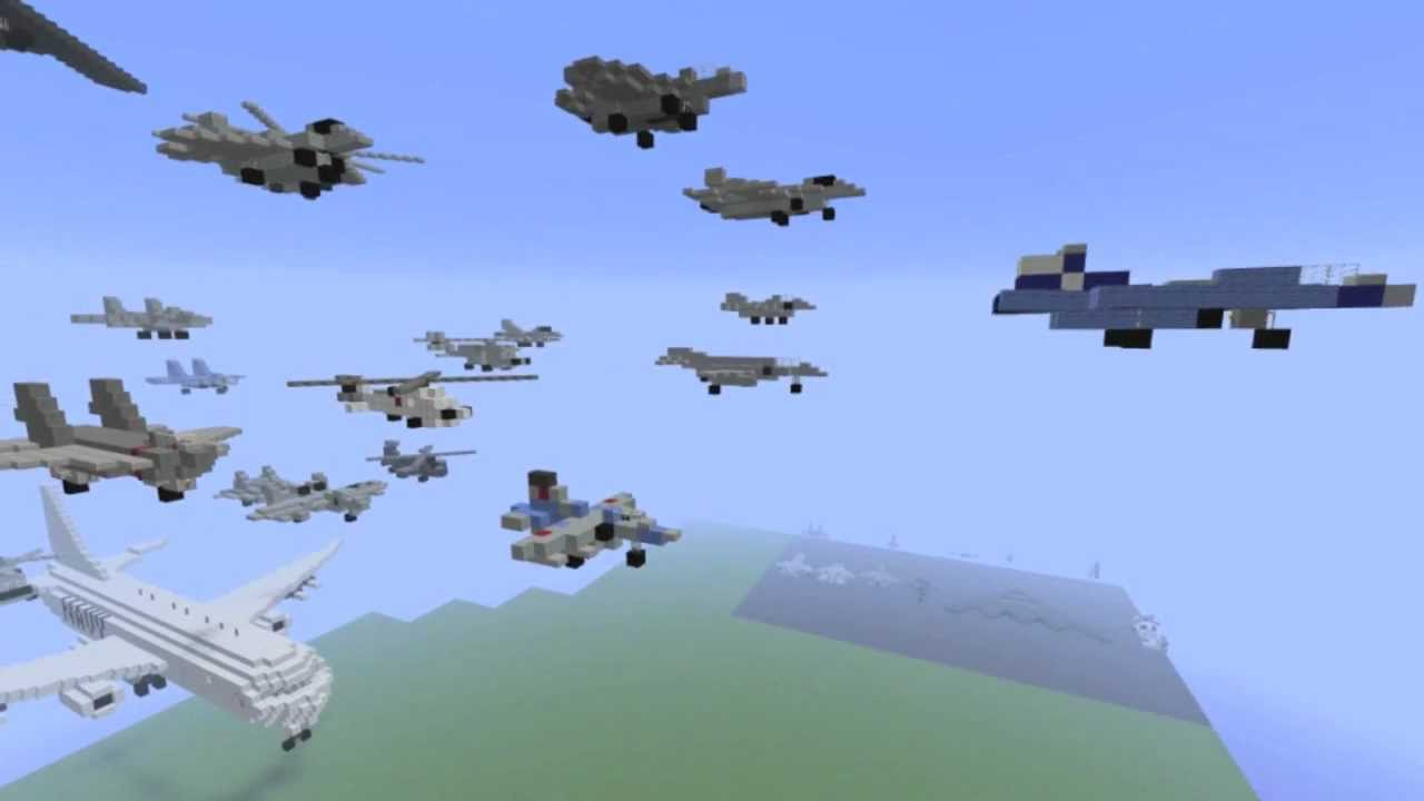 how to make a airplane in minecraft youtube