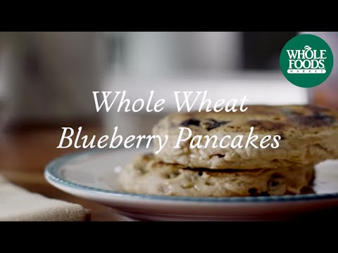 homemade-healthy-recipe-|-whole-wheat-blueberry-pancakes-|-whole-foods-market