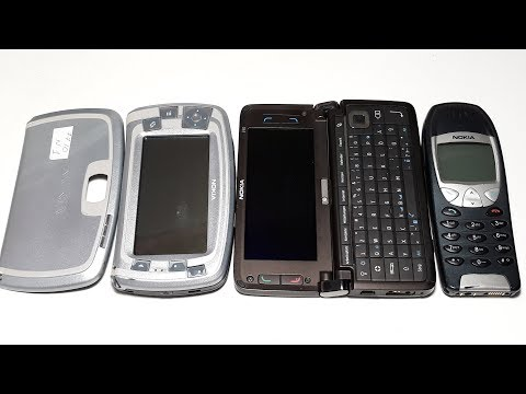 Крутые Nokia легенды из 2000-х. Ретро антикварные телефоны Nokia E90, Nokia 7710. Nokia 6210