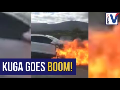 WATCH: Drive-by observer films Ford Kuga exploding near CT