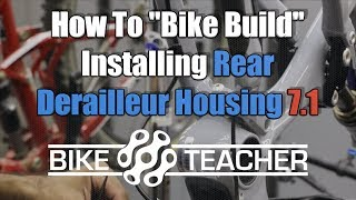 How to install internally routed rear derailleur housing, FSR.