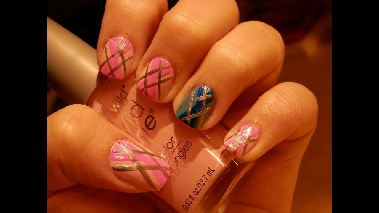 Tutorial: Rombos Nail Art - Argyle Nail Art