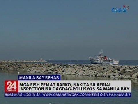Mga fish pen at barko, nakita sa aerial inspection na dagdag-polusyon sa Manila Bay
