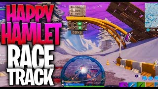 Complete A Lap Oḟ The Race Track In Happy Hamlet